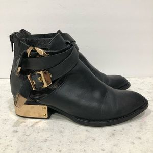 Vintage by Jeffrey Campbell Black Leather Boots